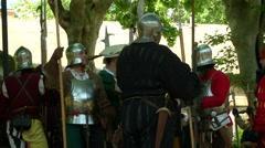 Renaissance Before Battle - stock footage