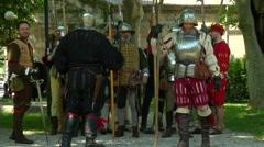 Renaissance Before Battle Stock Footage