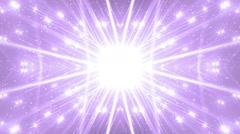 Floodlights Disco Violet Background. Stock Footage