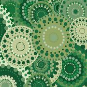 vintage circular retro ornament vector natural background green - stock illustration