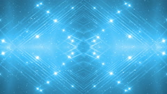 VJ Fractal blue kaleidoscopic background. - stock footage