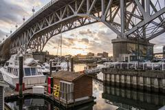 Yaletown Ferry dock, Vancouver, Canada - stock photo