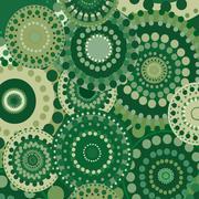 Vintage circular retro ornament vector natural background green Stock Illustration