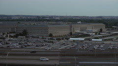 The Pentagon building and traffic in Washington DC, USA Stock Footage