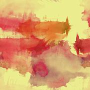 Watercolor spots seamless pattern - stock illustration