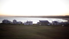 Rustic beach houses, Cabo Polonio, Rocha Department, Uruguay Stock Footage