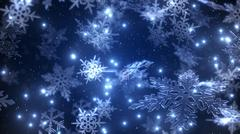 Natural Christmas snowflakes with a snowfall at the star night sky background Stock Illustration