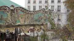 Carousel, Paris, France Stock Footage