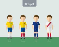 copa 2016 soccer uniform group B. - stock illustration