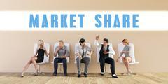 Business Market share Stock Illustration