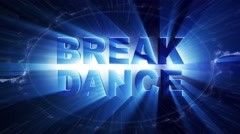 BREAK DANCE Text Animation and Particles Rings, 4k Stock Footage