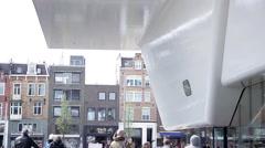 Stedelijk Museum Amsterdam in Amsterdam, Netherlands Stock Footage