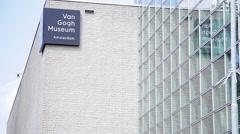 Van Gogh Museum in Amsterdam, Netherlands Stock Footage