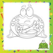 Illustration of Cartoon frog Piirros
