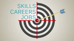 Building a business career, an arrow hit the target - stock footage