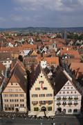 Medieval town of Rothenburg, Germany - stock photo