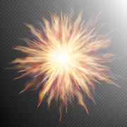 Explosion, big bang, fire burst. EPS 10 - stock illustration