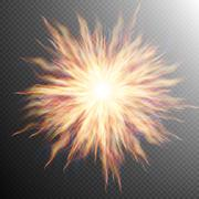 Explosion, big bang, fire burst. EPS 10 Stock Illustration