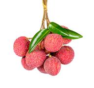 Lychee or Litchi isolated on the white - stock photo