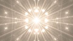 VJ Fractal gold kaleidoscopic background. Stock Footage