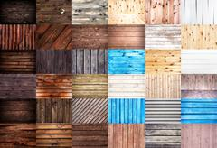 Wooden textures. Big set of wood backgrounds for web design. Stock Photos