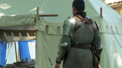 Renaissance Military Camp Stock Footage