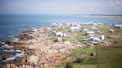 Scenic view of seaside hamlet, Cabo Polonio, Rocha Department, Uruguay Stock Footage