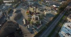 Asphalt Plant Aerial Orbit Stock Footage