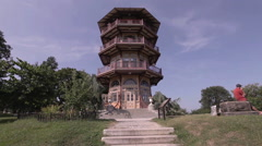 Pagoda in Patterson Park, Baltimore, Maryland, USA Stock Footage
