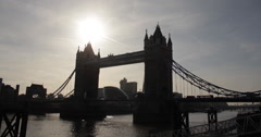 Tower Bridge, London, England, Great Britain - stock footage