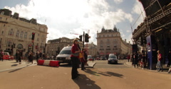 Piccadilly Circus, London, England, Great Britain - stock footage