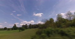 passing Balkan route, village with beautiful nature, forests and fields - stock footage