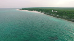 4K Aerial drone shot mexico ruins top hills tulum Stock Footage