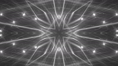 VJ Fractal silver kaleidoscopic background. Stock Footage
