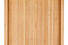 Bamboo mat twisted in the form of a manuscript, Isolated - stock photo