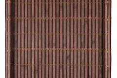 Bamboo mat twisted in the form of a manuscript, Isolated Stock Photos