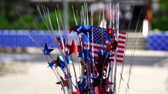 US Flag Party Decoration. Stock Footage