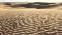 Sandy wind over dunes in Sahara Stock Footage