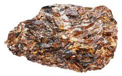 crystals of titanite (sphene, calcium titanium) - stock photo