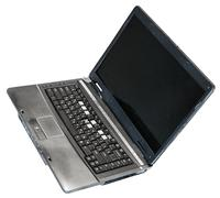 old defective laptop isolated on white - stock photo