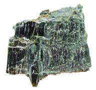 Chrysotile (serpentine asbestos) isolated on white - stock photo