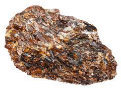 druse of titanite (sphene, calcium titanium) - stock photo