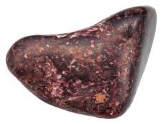 Polished Piemontite gemstone isolated Stock Photos