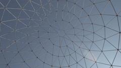 Steel Grating Art Over Sky Stock Footage