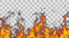 Looping Fire in front of Camera Overlay Stock Footage