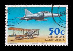 South Africa - circa 1995: Commemorative mail stamp celebrating 75 years of the  Stock Photos