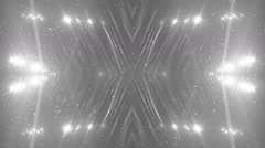 Floodlights Disco Silver Background. Stock Footage