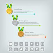 Sports medal and award concept. - stock illustration