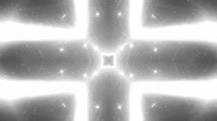 VJ Fractal silver kaleidoscopic background. Stock Footage
