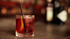 Negroni, close-up Stock Footage